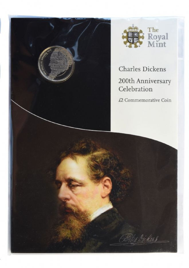 2012 £2 Dickins Brilliant Uncirculated pack for sale